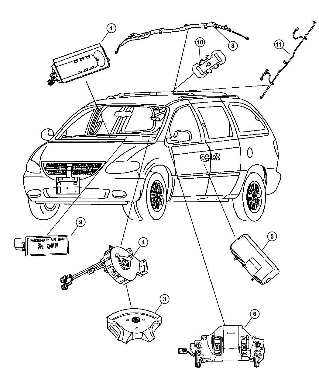 2007 Dodge Caravan Kneeblocker. Steering column opening