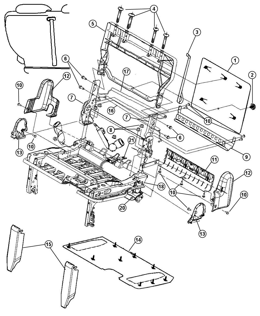 Dodge Caravan Spring. Trim: (*o0.). Seats, bench, stow