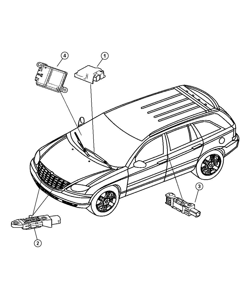 2007 Chrysler Pacifica Module. Occupant restraint. Air