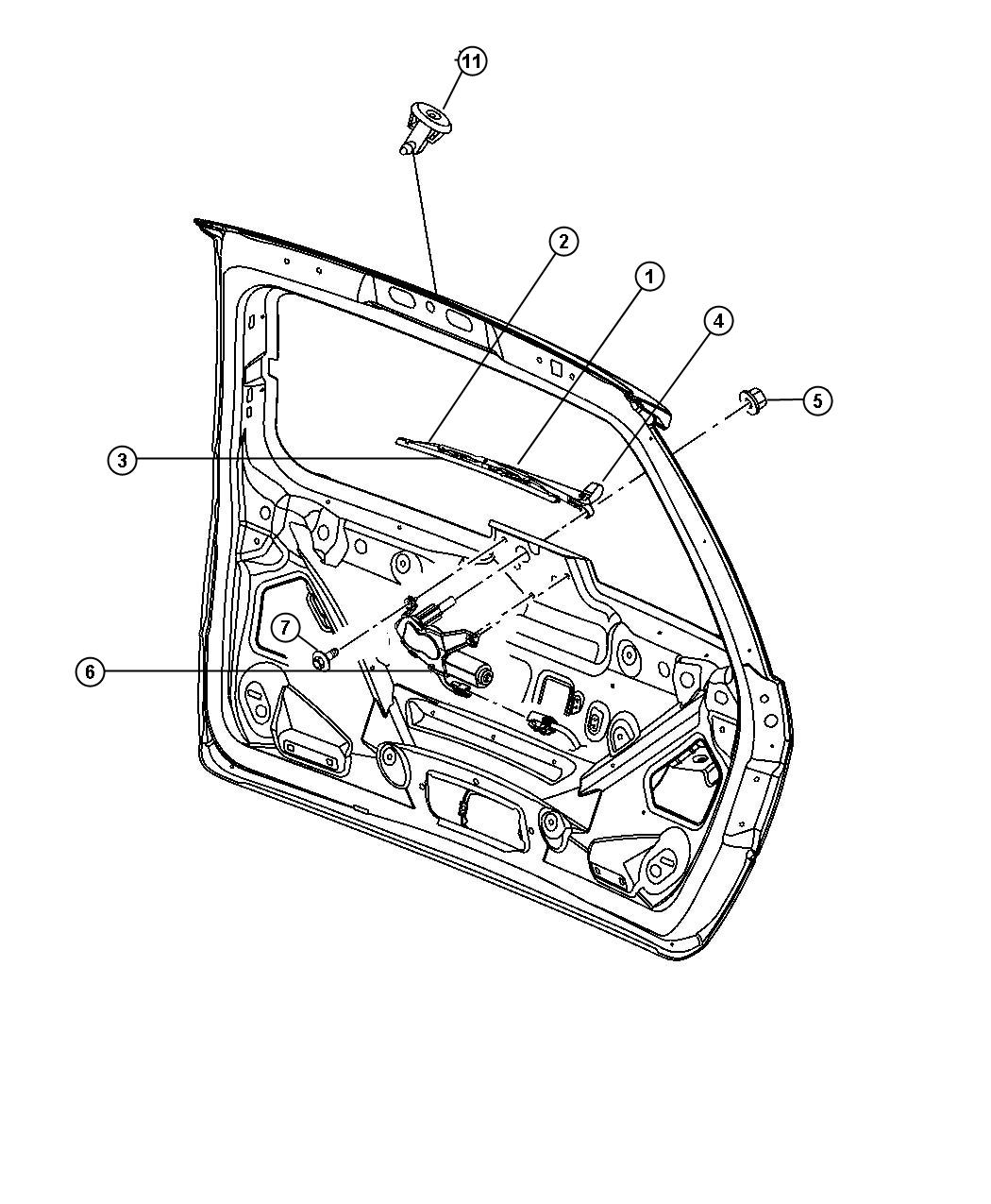 Chrysler Pacifica Arm. Liftgate wiper, rear wiper