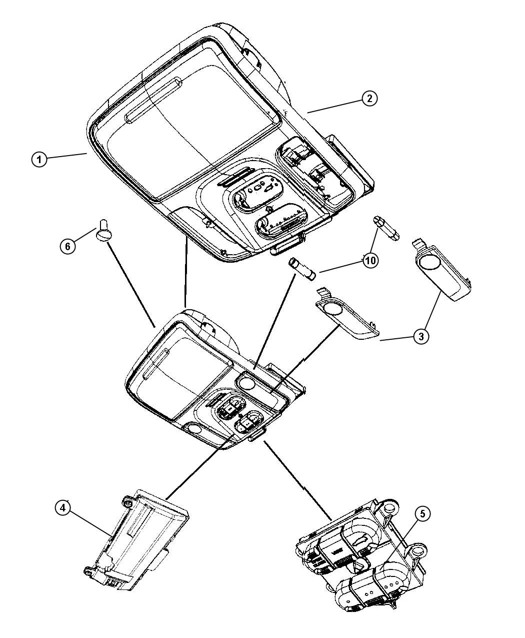 Chrysler Pacifica Module Compass Trim All Trim