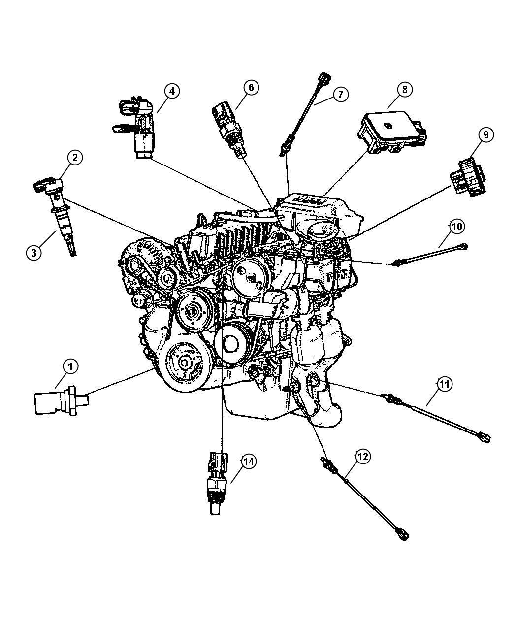 1999 Chrysler Sebring Sensor. Crankshaft position. Sensors
