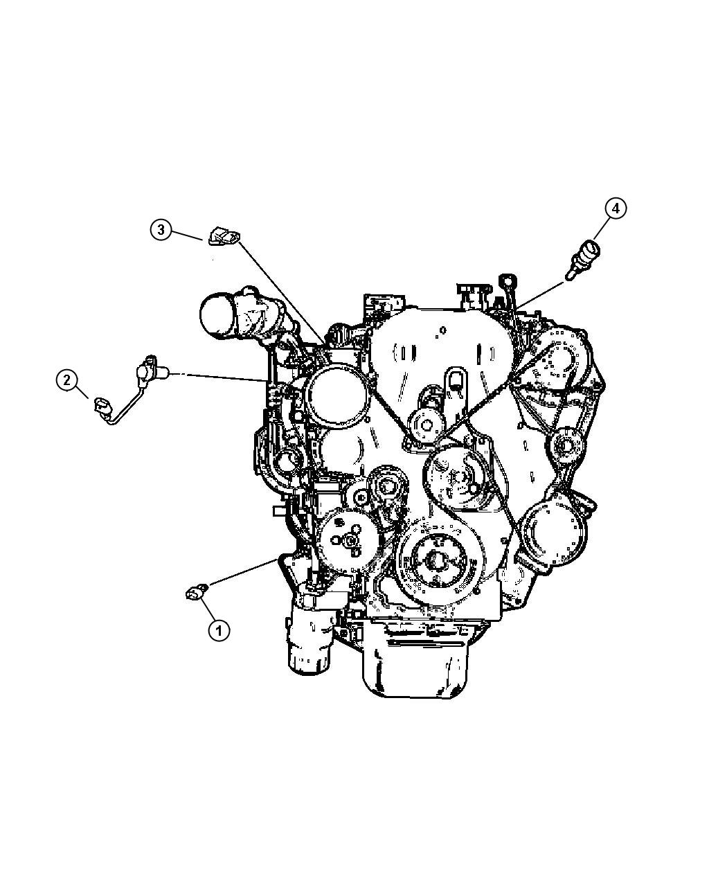 Chrysler Sebring Sensor Engine Electric Control