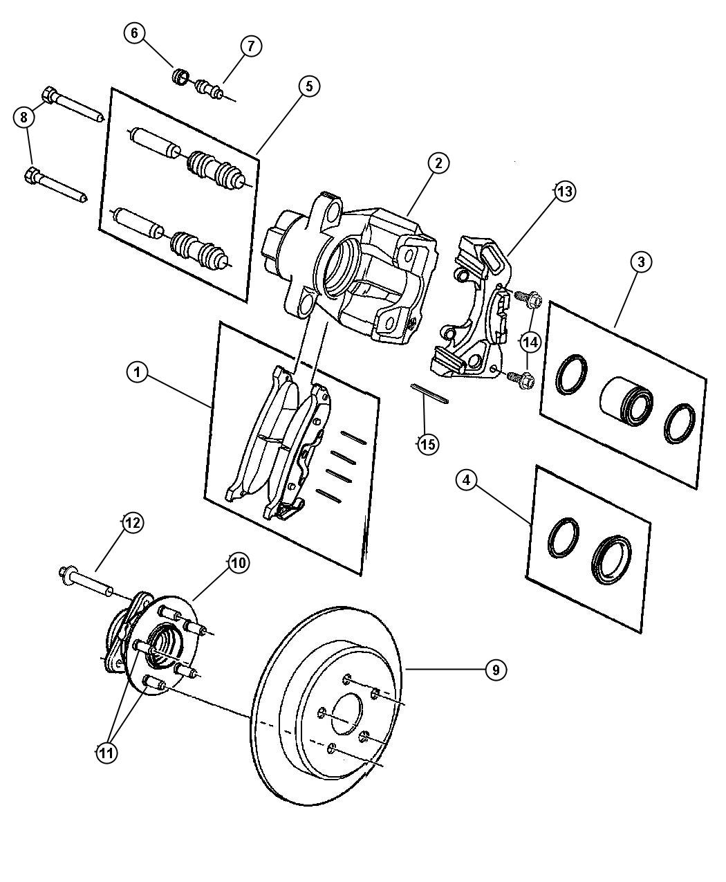 Dodge Caliber Rotor Brake Brakes Suspension Rear