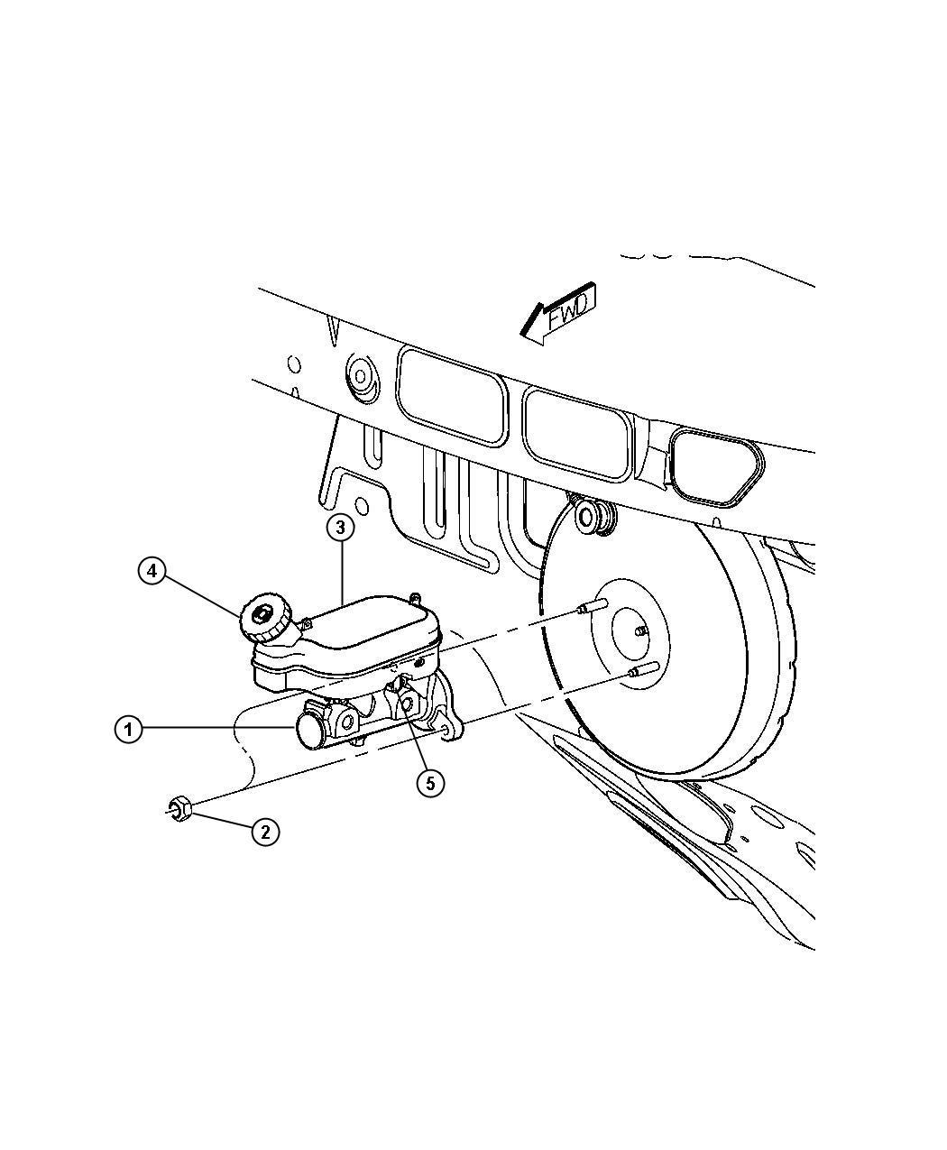 Chrysler Pacifica Sensor, switch. Brake fluid level. Wheel
