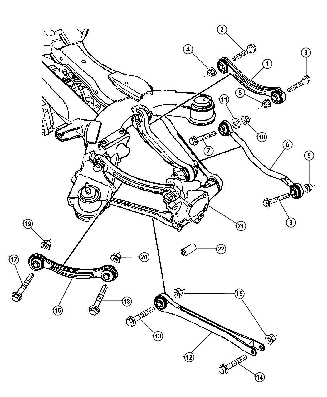Chrysler Pacifica Bolt Cam Toe Link To Subframe