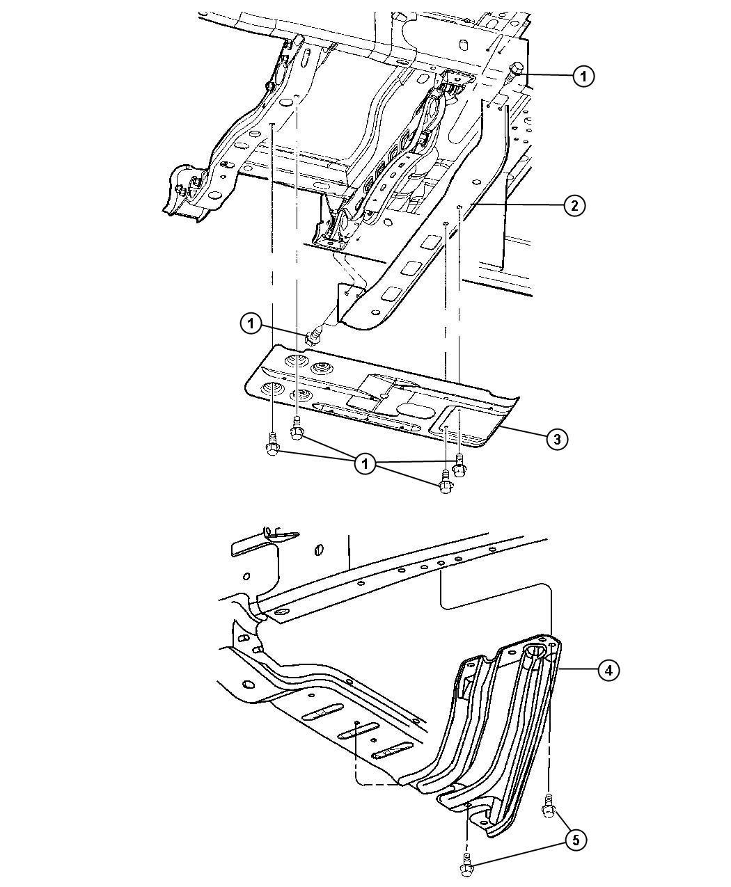 Dodge Ram Crossmember Skid Plate Mounting