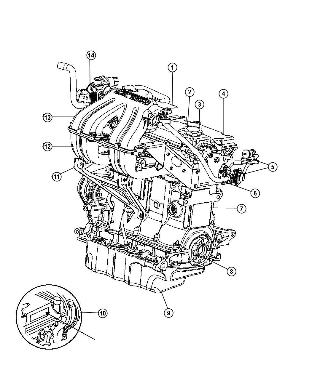 Dodge Caravan Cap. Oil filler. From 02/06/03, includes o