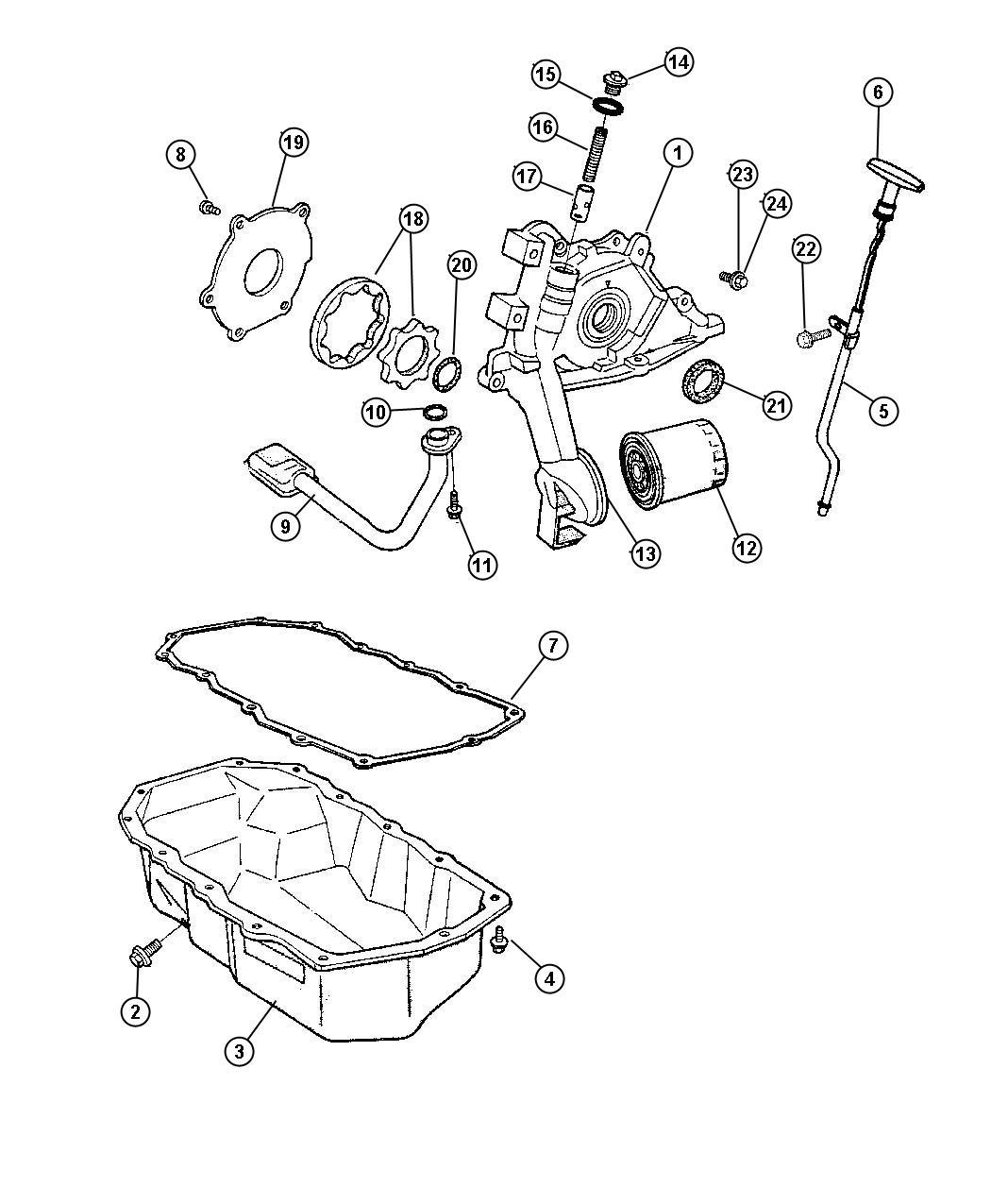 Chrysler Voyager Pump Engine Oil Edz Oiling