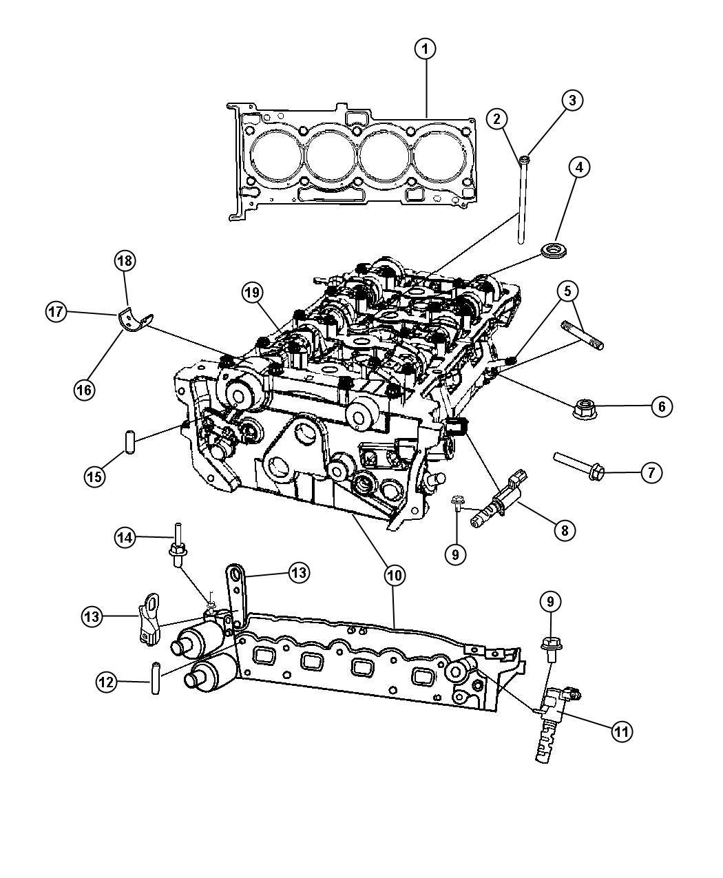2011 Chrysler Sebring Control valve, solenoid. Oil intake