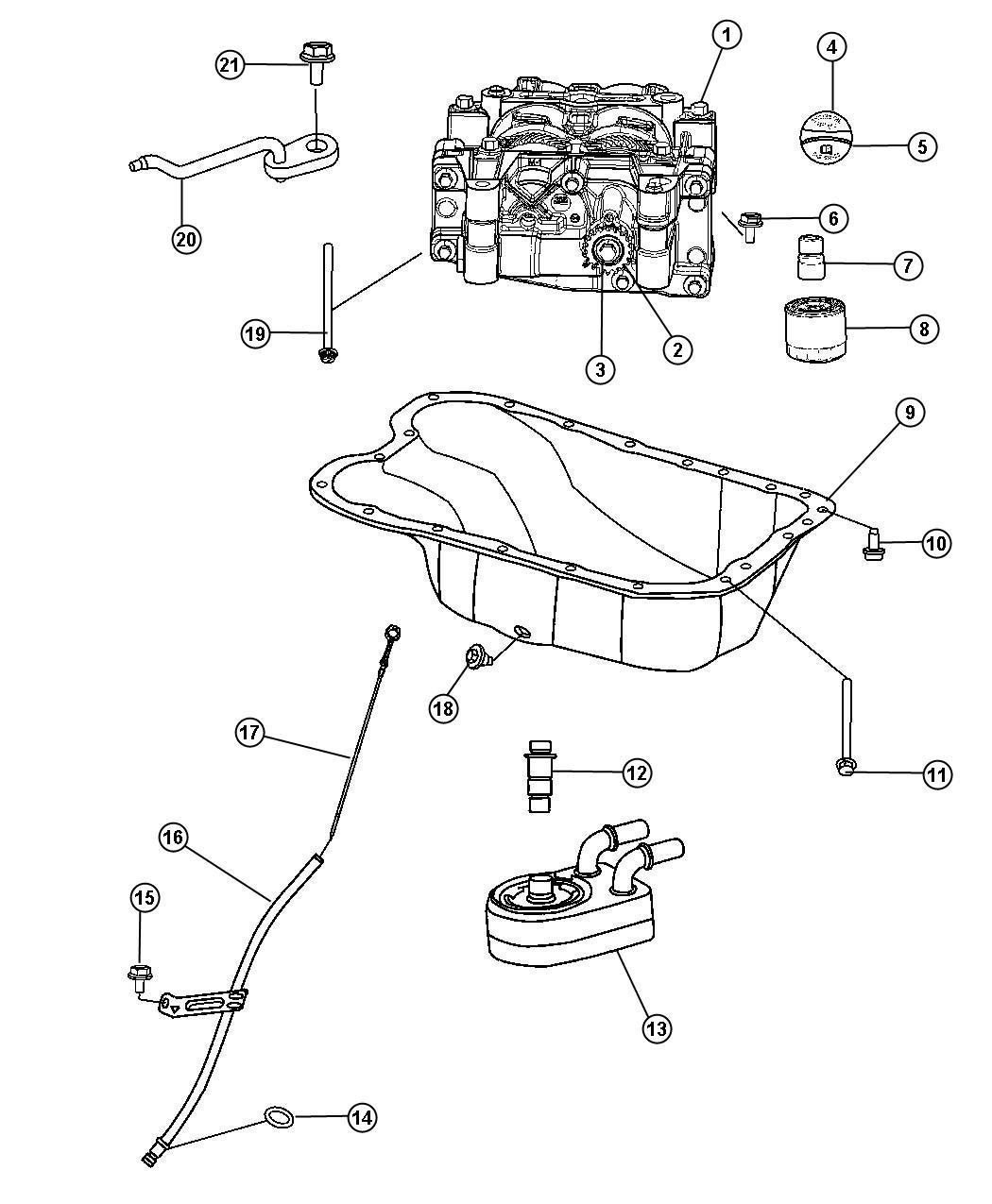 Jeep Patriot Seal Engine Oil Cooler Engine Oil Cooler