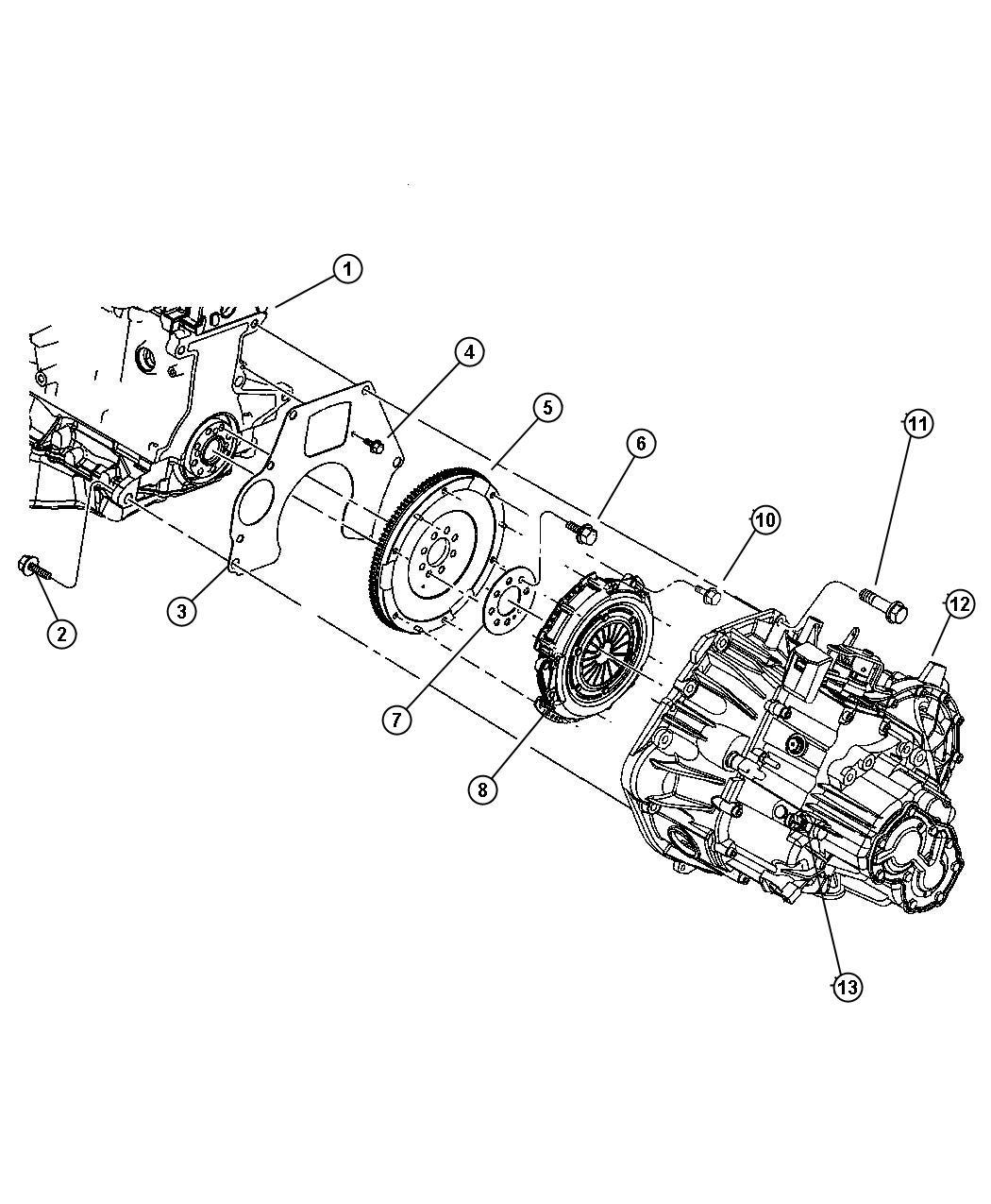 2007 Chrysler PT Cruiser Clutch kit. Manual transmission