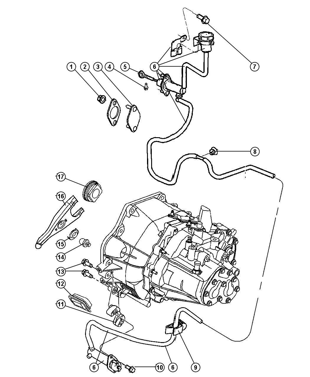 2013 Jeep Patriot Actuator. Hydraulic clutch. Lhd