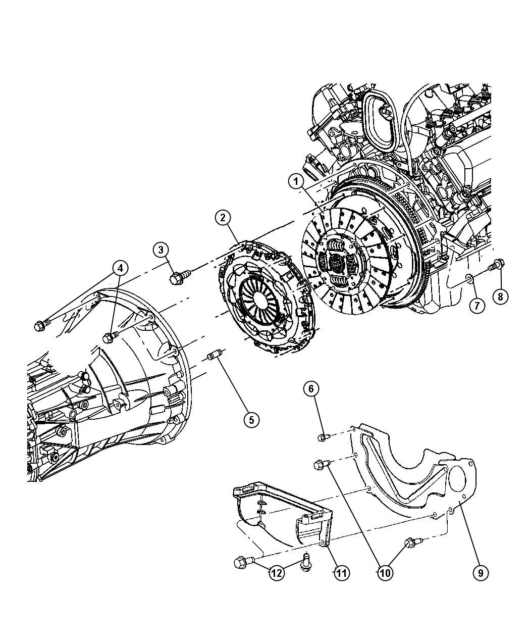 Dodge Ram Clutch Kit Used For Pressure Plate