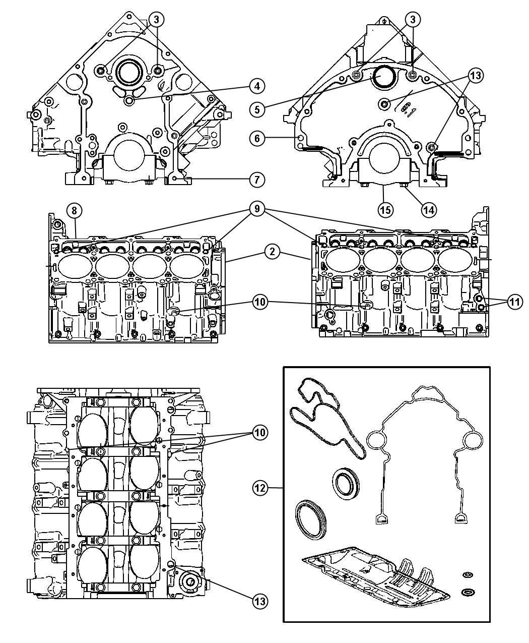 Dodge Ram Gasket Package Engine Lower