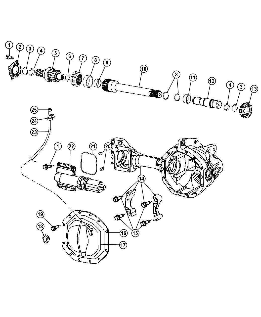 Dodge Dakota Bolt Screw Differential Cover Hex