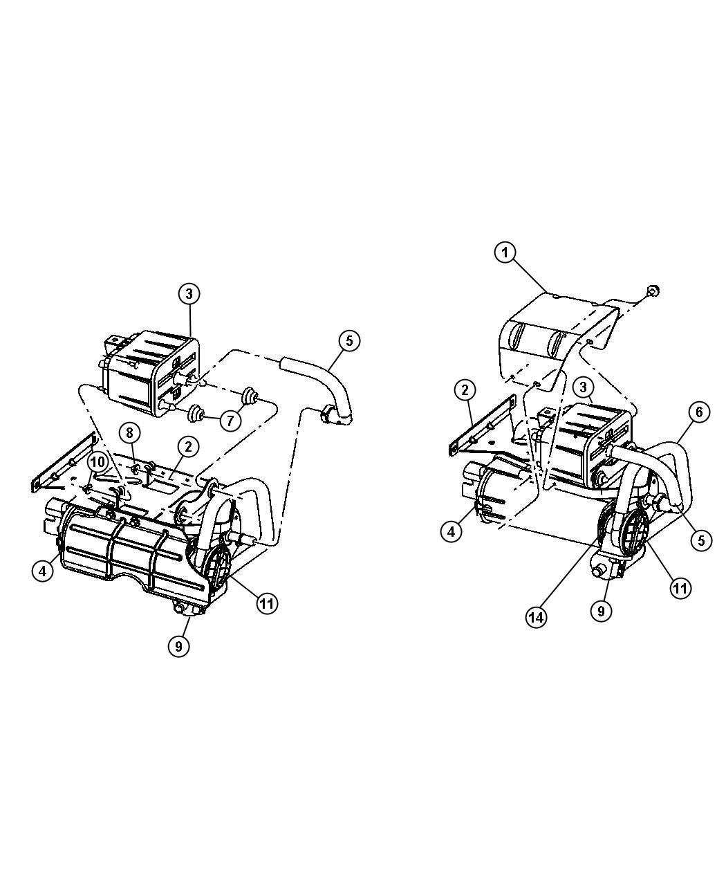 Dodge Ram Canister Vapor Gallon Fuel Tank