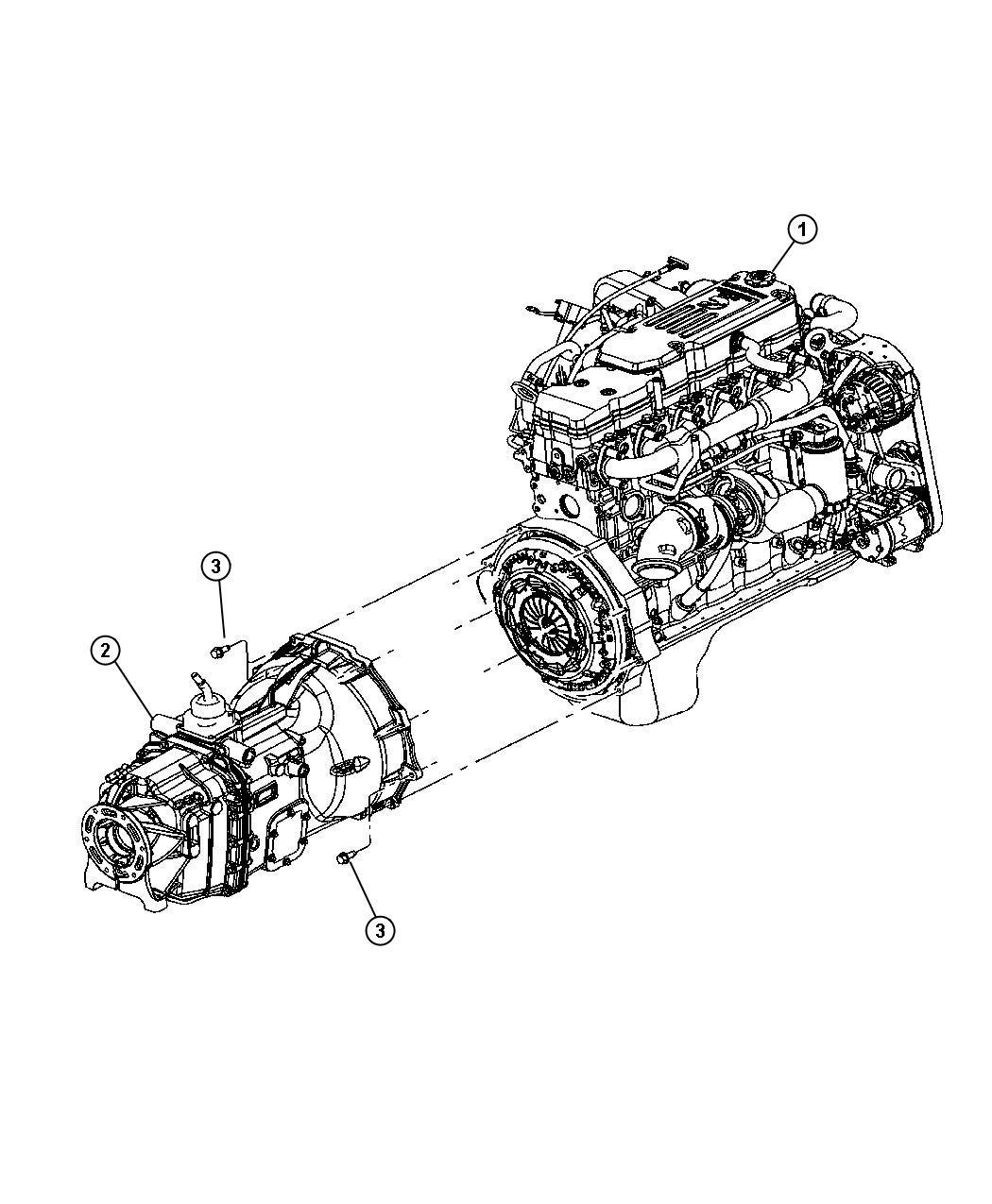 Dodge Challenger Transmission. 6 speed. Assembly, stamp