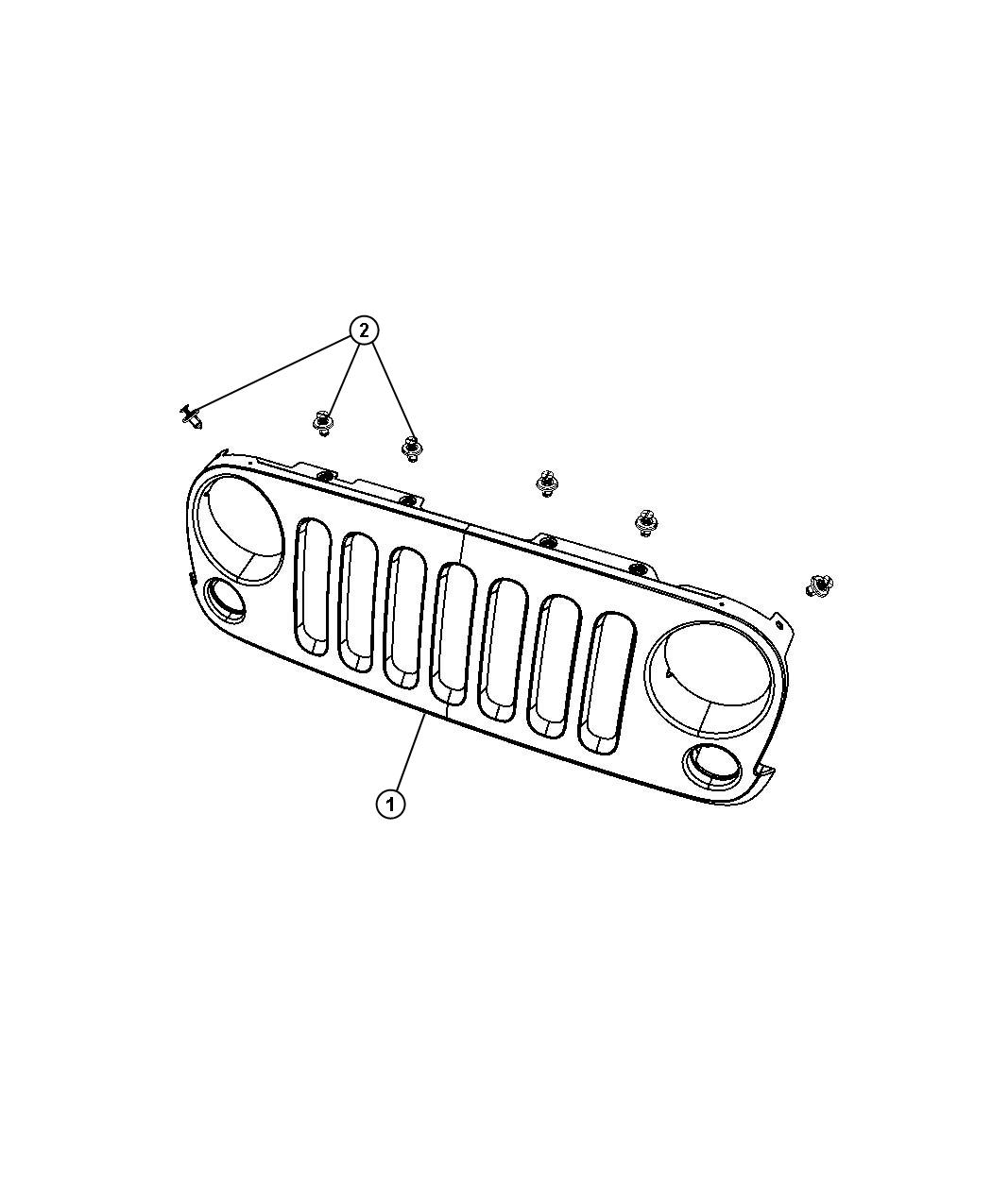 Jeep Wrangler Used for: SCREW AND WASHER. Hex Head. M8X1
