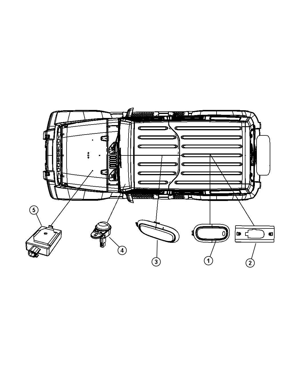 Jeep Wrangler Lamp Dome Trim All Trim Codes