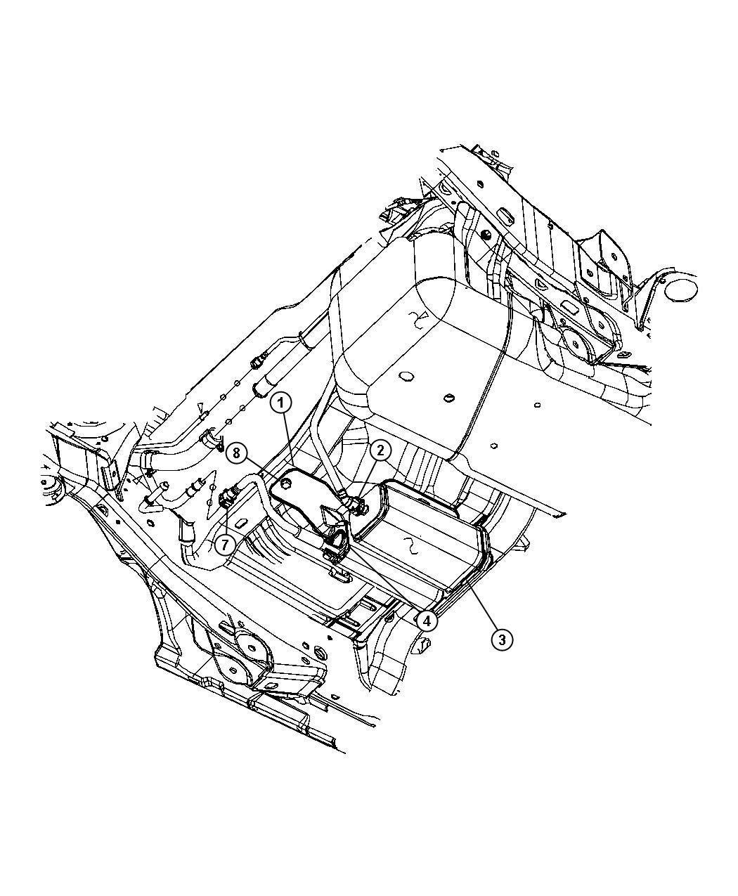 2007 Jeep Wrangler Bracket. Vapor canister. Export. Tank