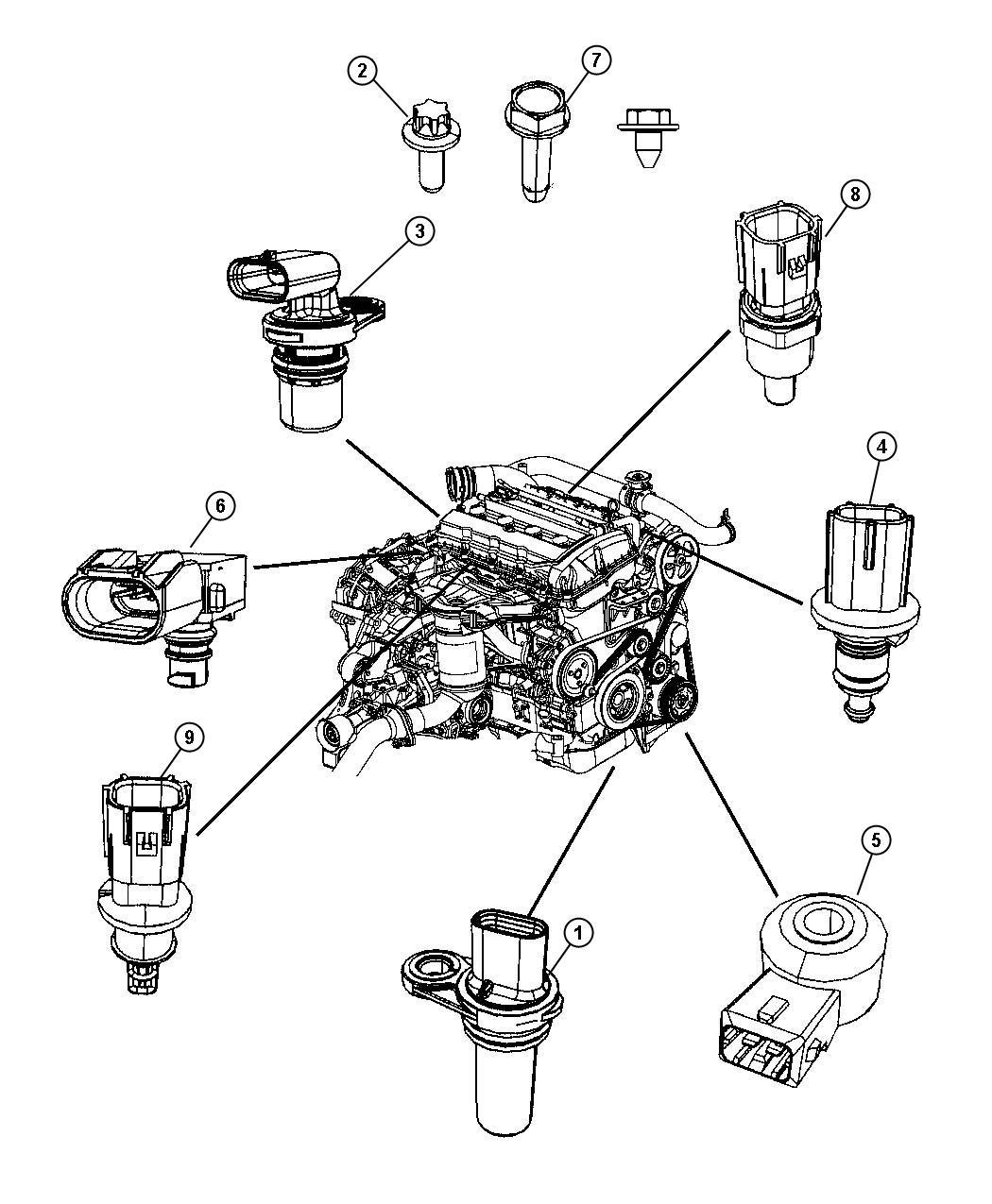 Dodge Caliber Sensor Crankshaft Position Vehicle Speed