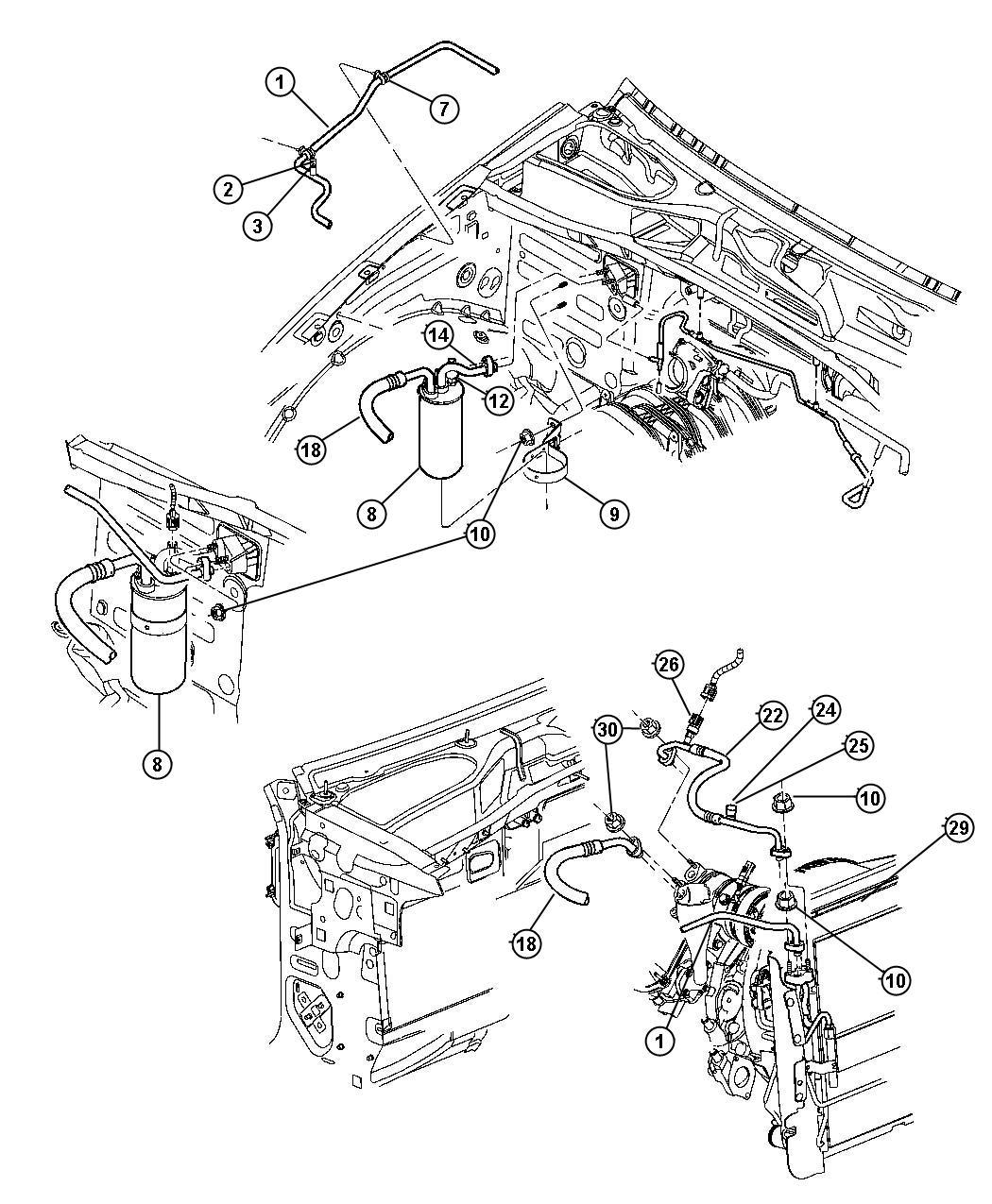 2005 Jeep Liberty Condenser. Air conditioning. Mopar, note