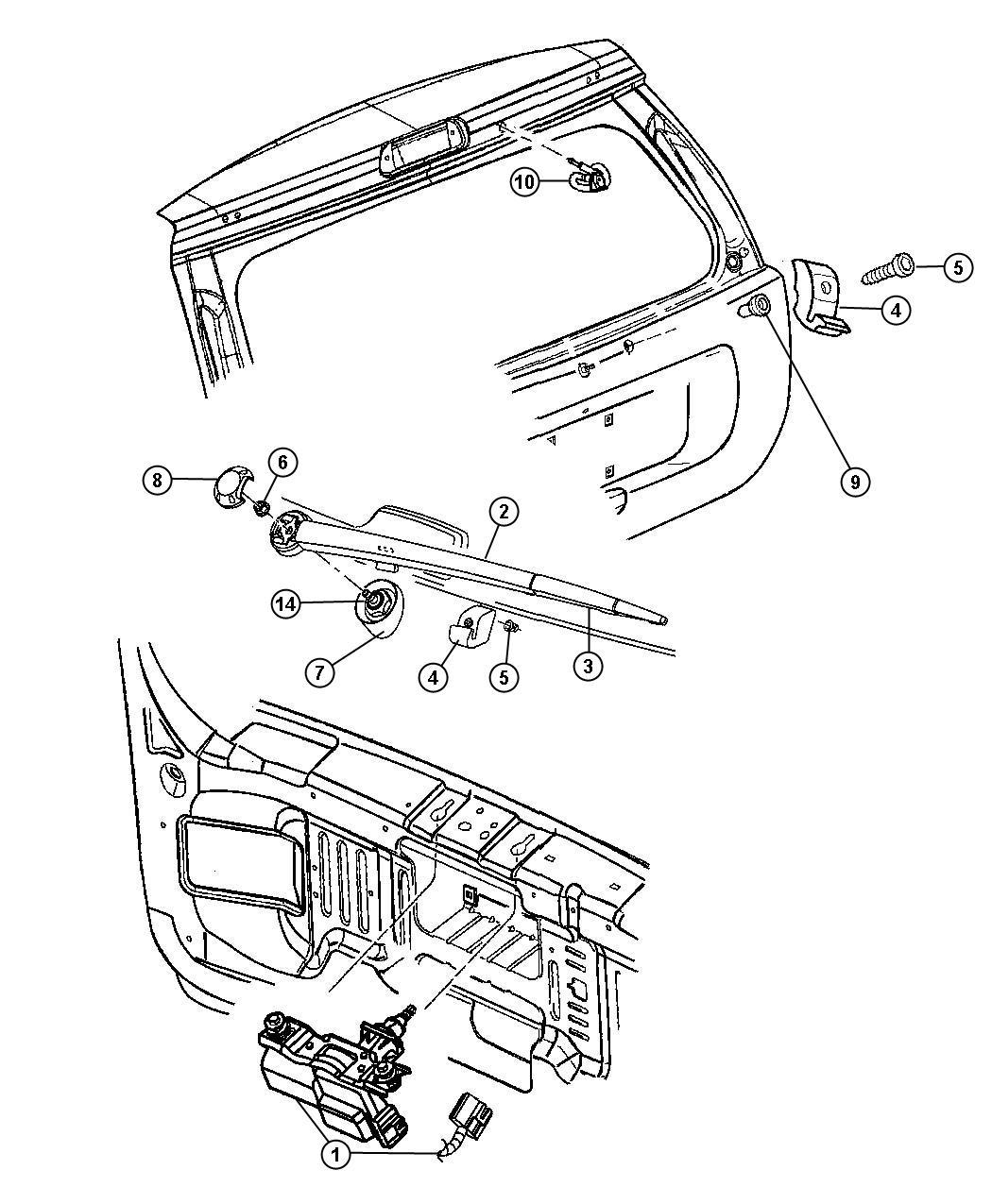 Jeep Grand Cherokee Blade Rear Window Wiper Rear