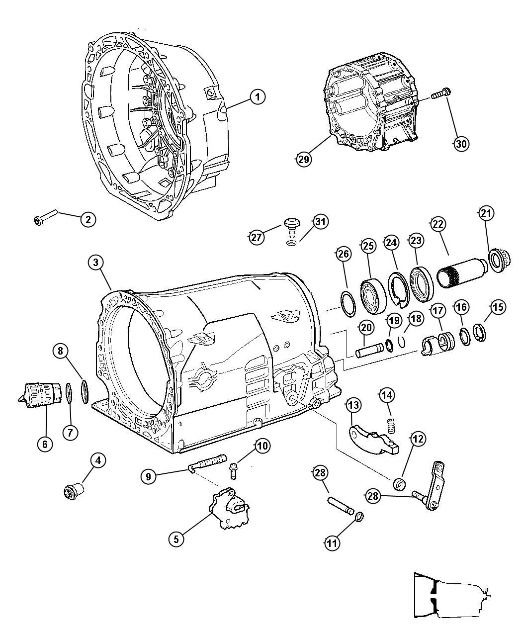 Jeep Grand Cherokee Flange package, shaft package