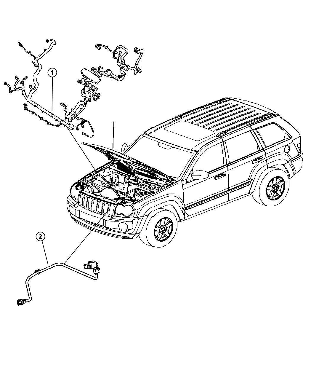 Jeep Commander Harness, resistor, wiring. Jumper, radiator