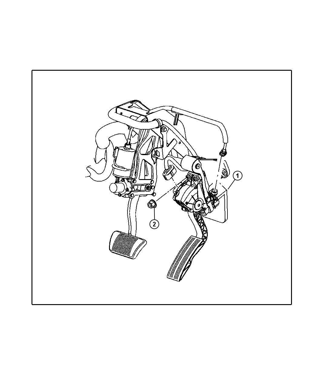 Jeep Commander Peda assy. Accelerator. [xa8], [xa8] non