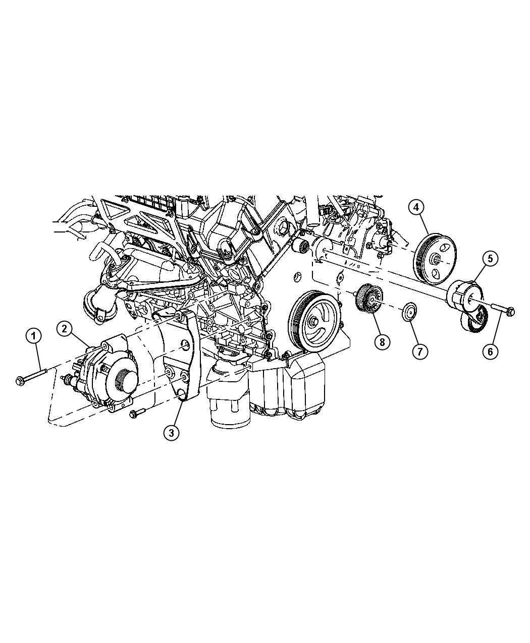 2010 Dodge Viper Generator. Engine. [160 amp alternator