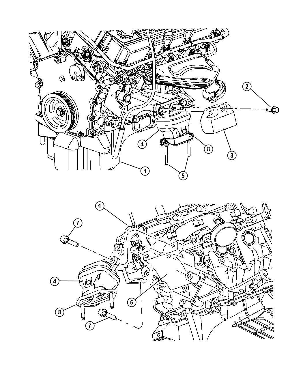 Dodge Magnum Cushion. Engine support. Left, left side