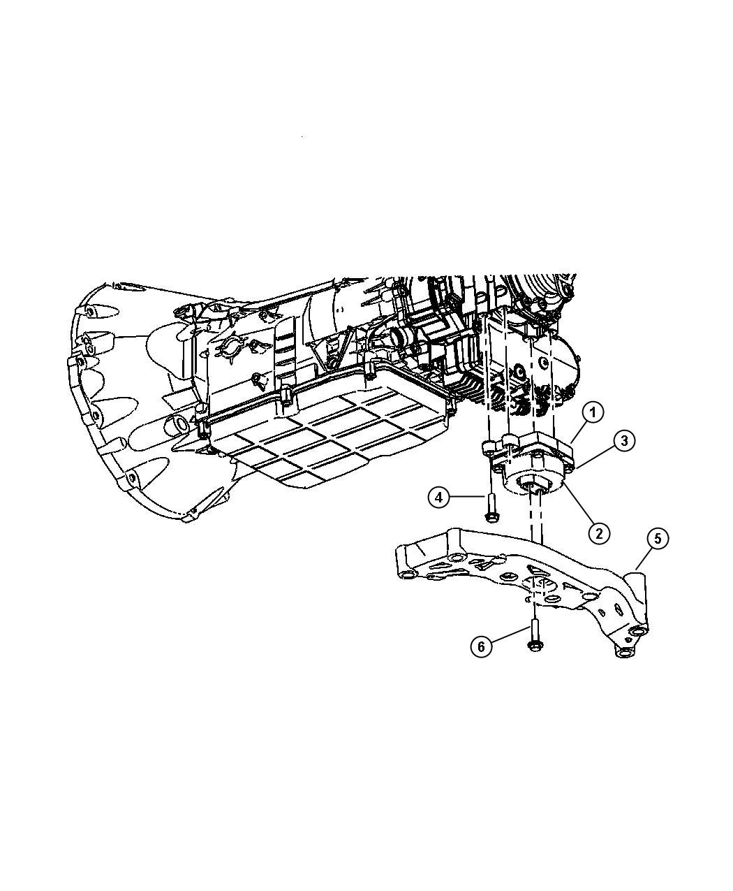 Dodge Dart Insulator Transmission Engine Mounting