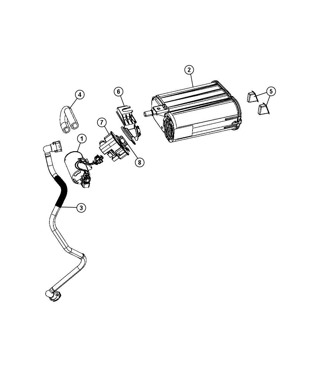 2007 Dodge Magnum Hose. Canister to vent valve. [export
