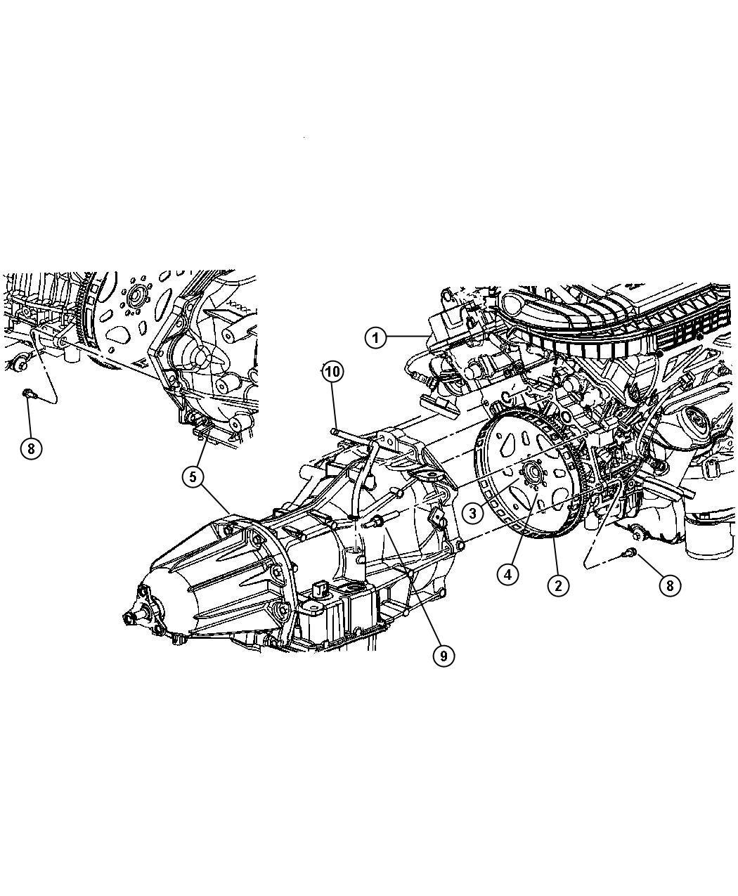 2007 Chrysler 300 Hose. Transmission vent. Torque