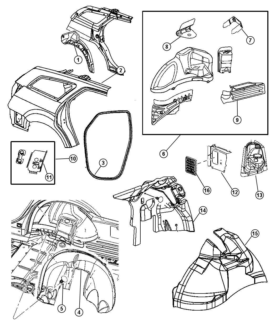 Dodge Magnum Panel Rear Wheelhouse Right