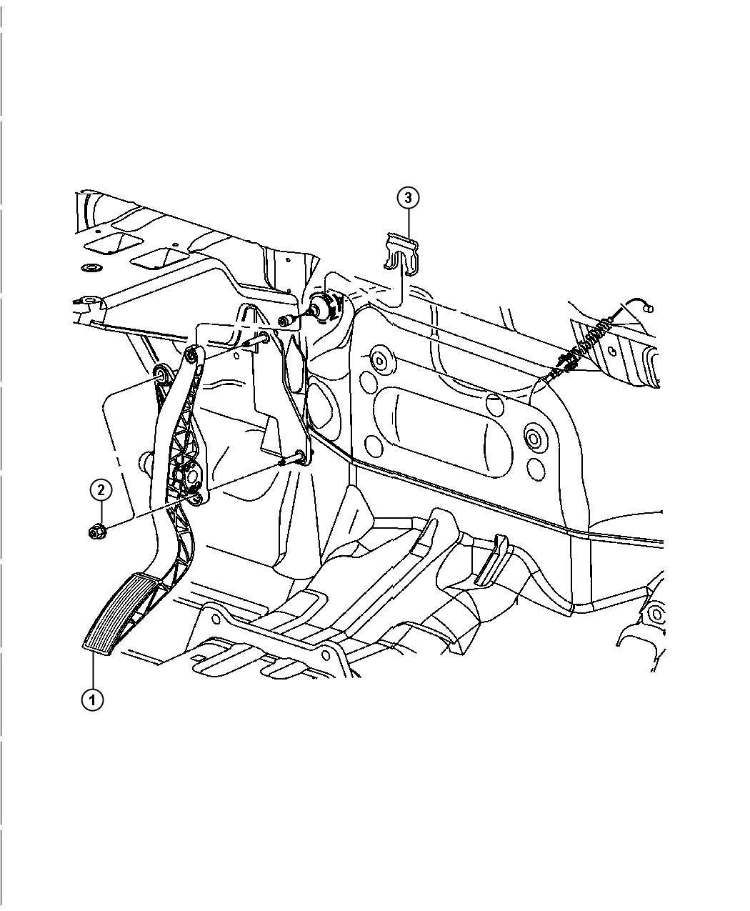 Dodge Durango Pedal Accelerator Non Adjustable