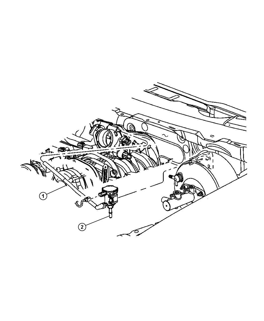 Dodge Durango Valve Linear Purge Without Bracket Vacuum