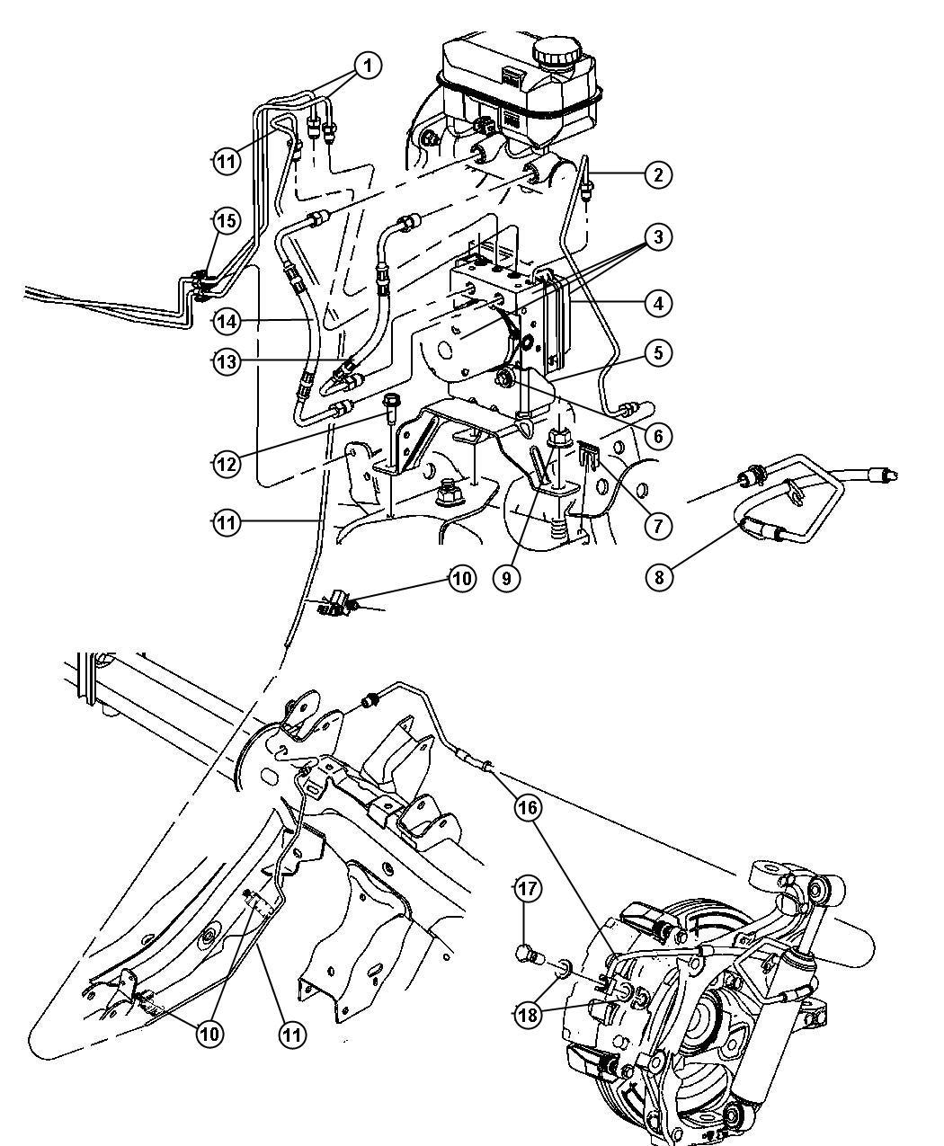 Dodge Durango Module Anti Lock Brakes Modules