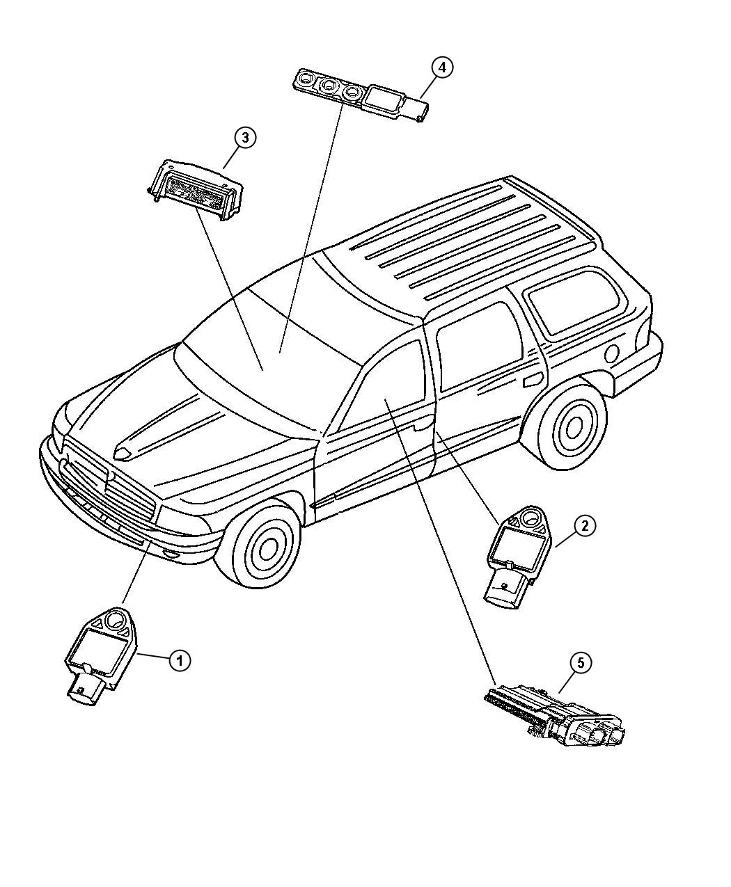Dodge Durango Module Occupant Classification Low
