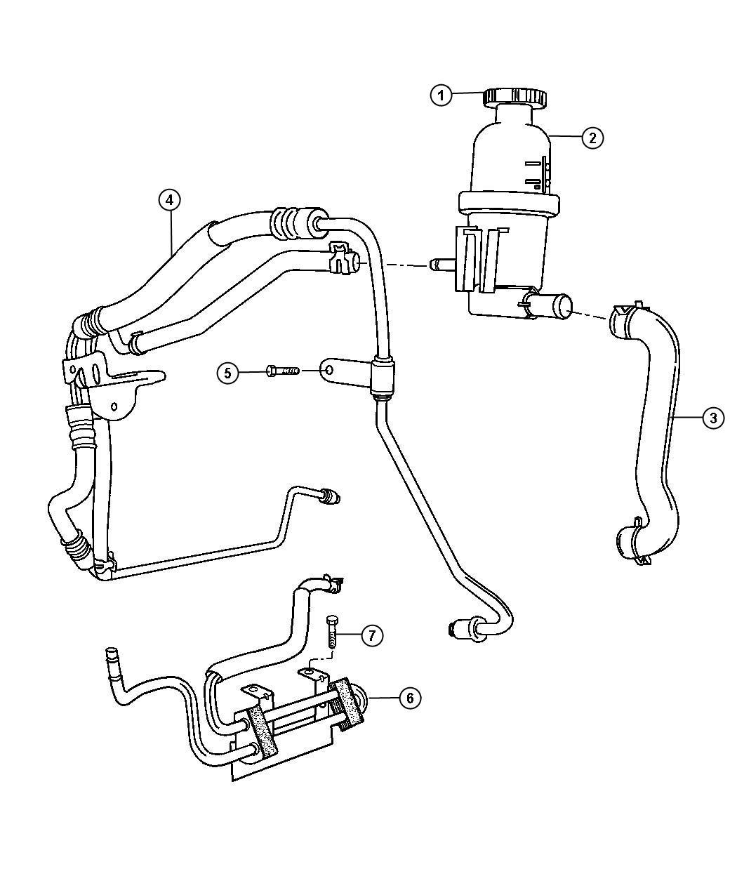 Chrysler 300 Line Power Steering Pressure Hoses