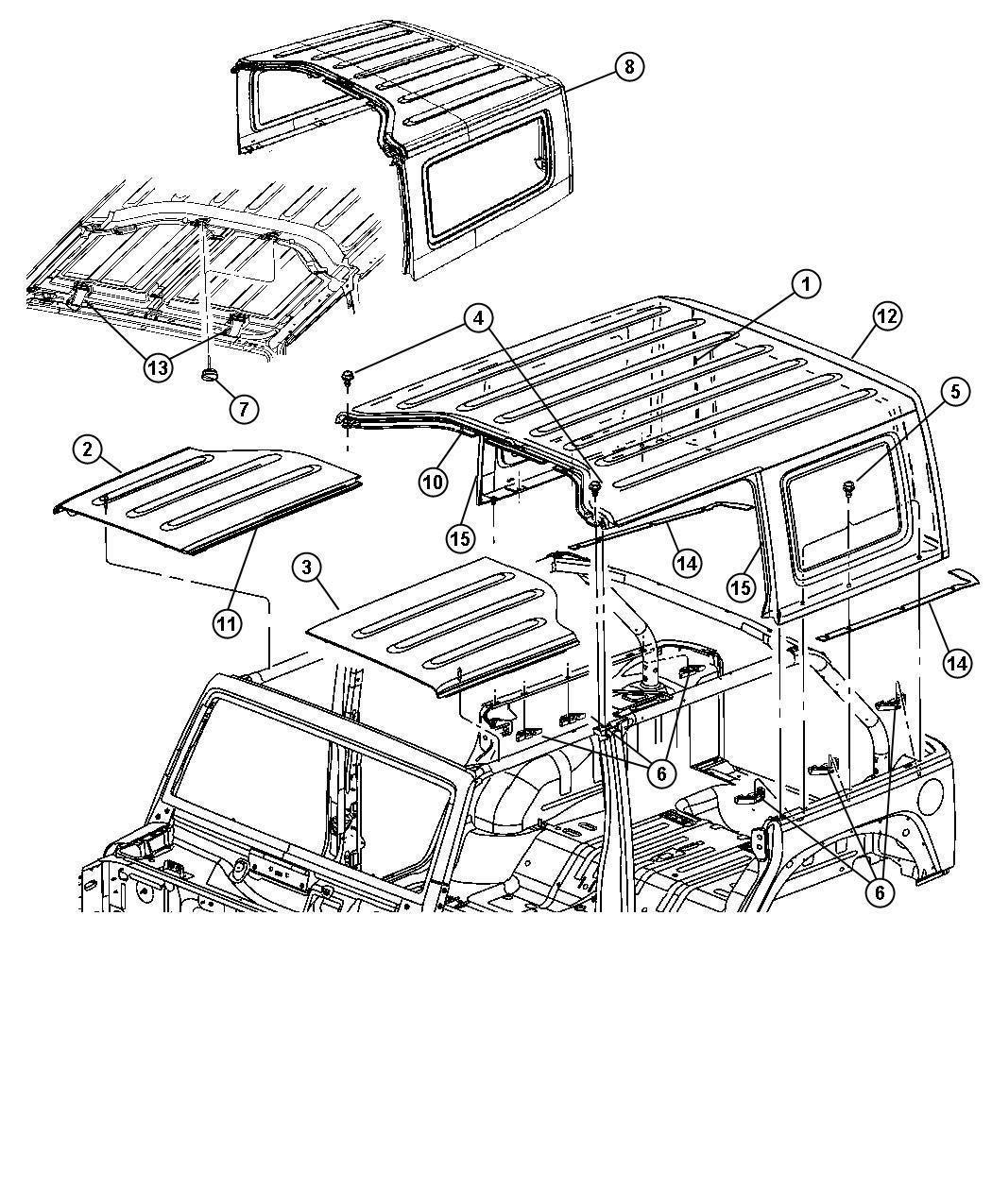 2007 Jeep Wrangler Pin. Locator. Use up to 11-26-07, use