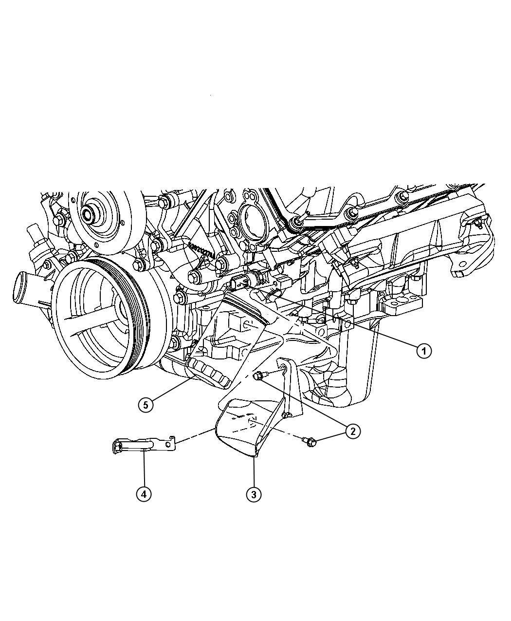 Chrysler PT Cruiser Sending unit, switch. Oil pressure