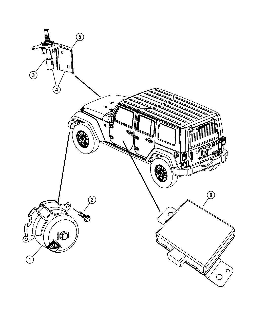 Jeep Wrangler Bushing Hinge Swing Gate Alarm