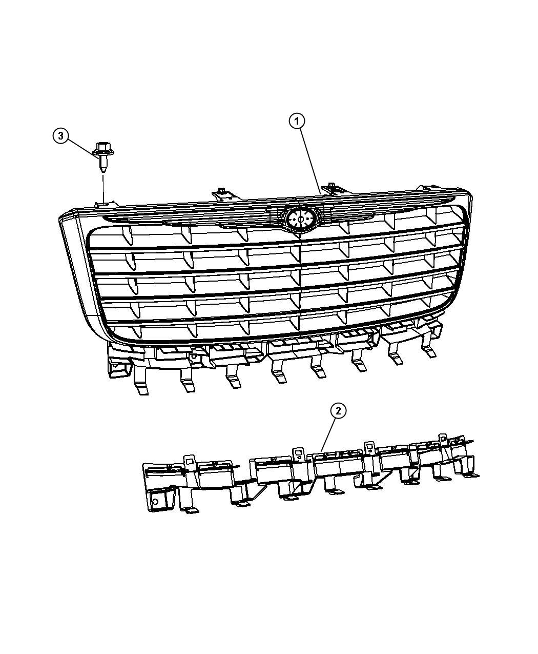 Chrysler Aspen Bracket Grille
