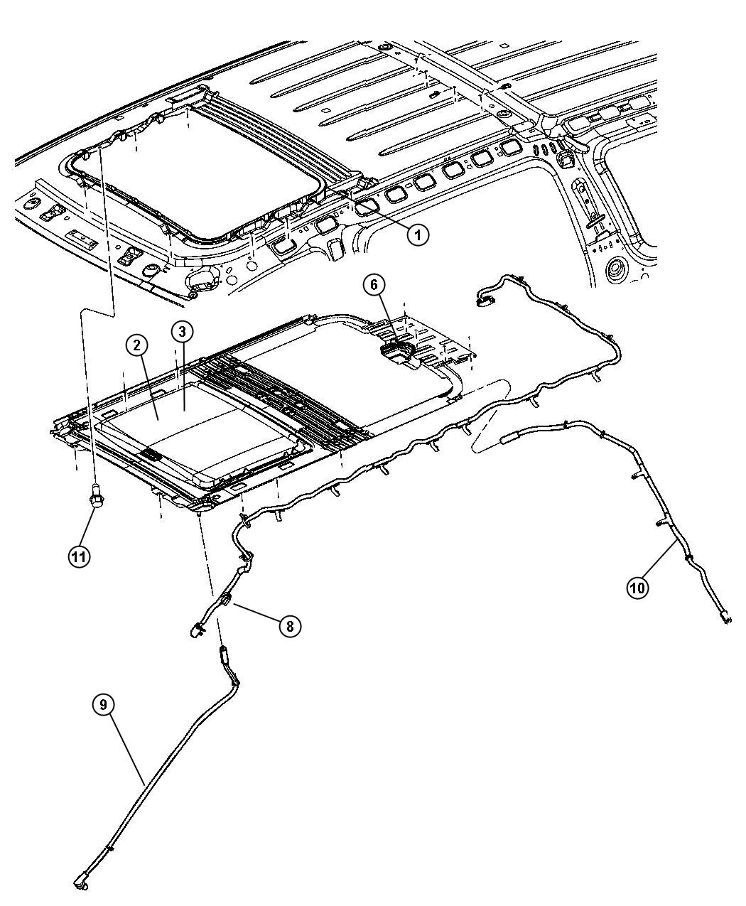 Chrysler Aspen Glass. Sunroof. Up to 3-08-07. Trim: [all