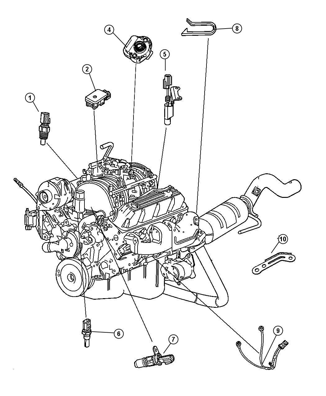 2007 Chrysler Aspen Sensor. Camshaft. Camshaft position