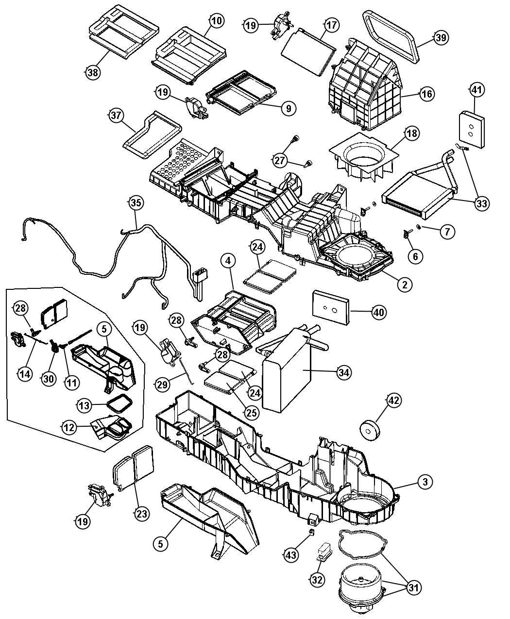 2007 Dodge Ram 1500 Evaporator kit. Air conditioning
