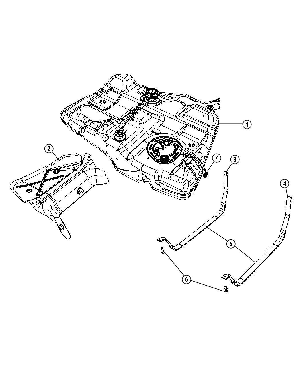Chrysler Sebring Hose Fuel Tank Vent Line